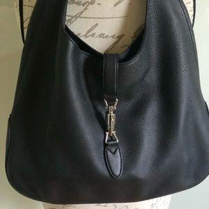 GUCCI Jackie Soft Leather Hobo Bag